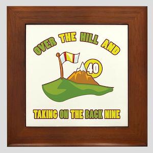 Golfing Humor For 40th Birthday Framed Tile
