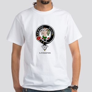 Livingston Clan Crest Badge White T-Shirt