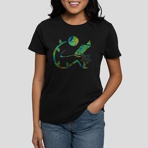 Four Rs Green Reader Women's Dark T-Shirt