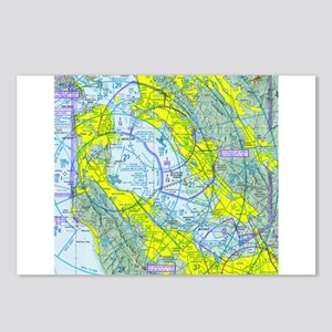 SFO Airspace Chart Postcards (Package of 8)