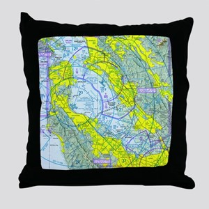 SFO Airspace Chart Throw Pillow