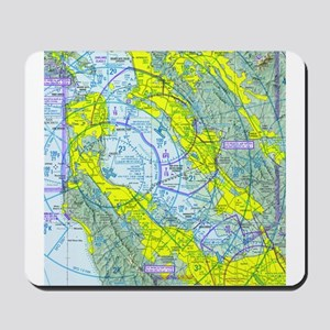SFO Airspace Chart Mousepad