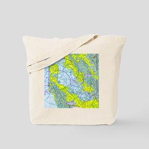 SFO Airspace Chart Tote Bag