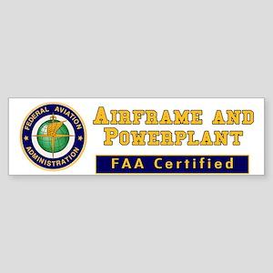 FAA Certified A & P Mechanic Sticker (Bumper)