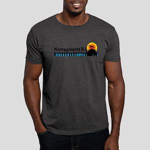 Narragansett RI - Pier Design Dark T-Shirt