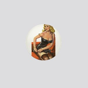 Blonde Pin-Up Mini Button