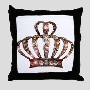 Tiara of Gold Throw Pillow