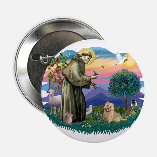 """St Francis #2/ Cairn Ter 2.25"""" Button"""
