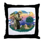 St Francis #2/ Cairn Ter Throw Pillow