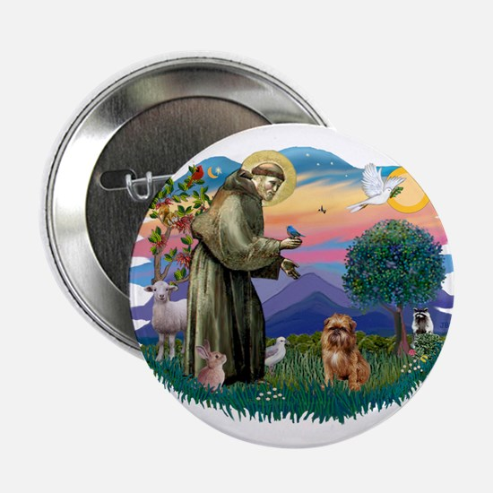 "St Francis #2/ Brussels G 2.25"" Button"