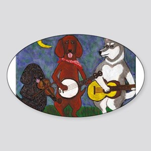 Country Dogs Sticker (Oval)