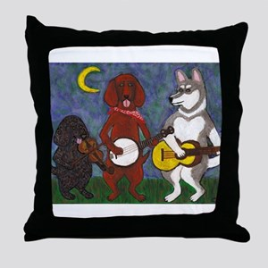 Country Dogs Throw Pillow