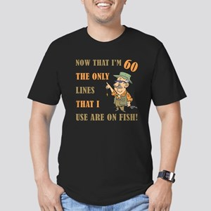 Hilarious Fishing 60th Birthday Men's Fitted T-Shi