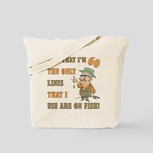 Hilarious Fishing 60th Birthday Tote Bag