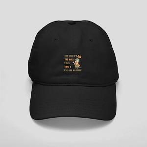 Hilarious Fishing 60th Birthday Black Cap