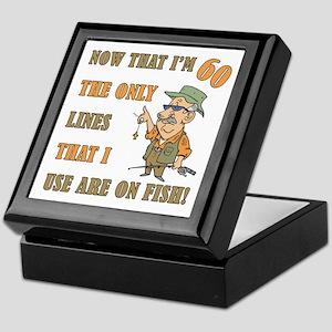Hilarious Fishing 60th Birthday Keepsake Box