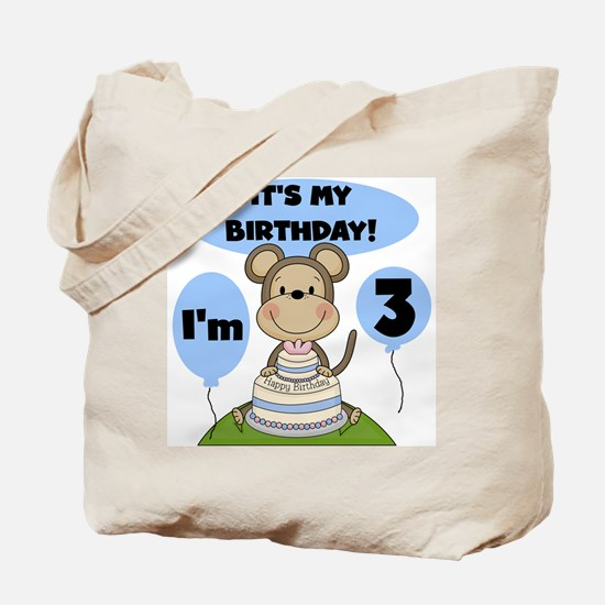 Boy Monkey 3rd Birthday Tote Bag