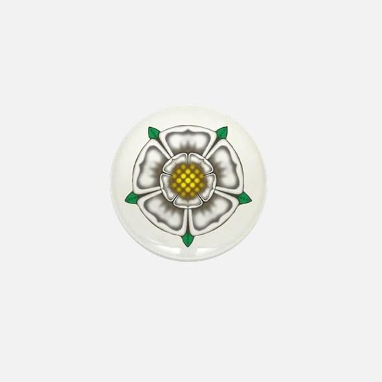 White Rose of York Mini Button