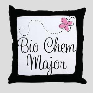 Cute Bio Chem Major Throw Pillow
