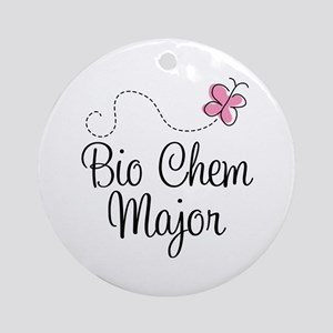 Cute Bio Chem Major Ornament (Round)