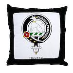 Hunter Clan Crest Badge Throw Pillow