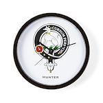 Hunter Clan Crest Badge Wall Clock