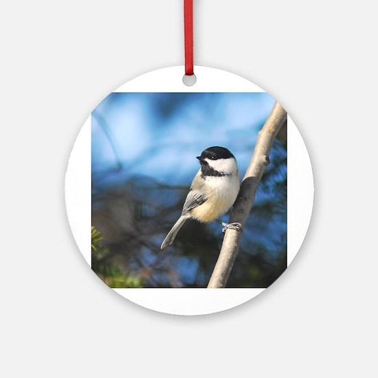 Chickadee Ornament (Round)