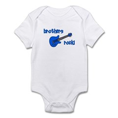 Brothers Rock! Blue Guitar Infant Bodysuit