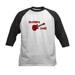 Brothers Rock! Red Guitar Kids Baseball Jersey