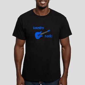 Cousins Rock! Blue Guitar Men's Fitted T-Shirt (da