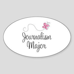 Cute Journalism Major Sticker (Oval)