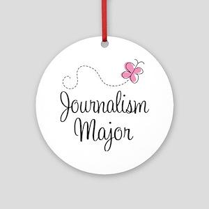 Cute Journalism Major Ornament (Round)