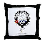 Horsburgh Clan Crest Badge Throw Pillow