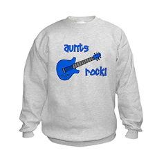 Aunts Rock! Blue Guitar Sweatshirt