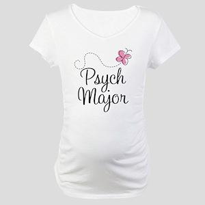 Cute Psych Major Maternity T-Shirt