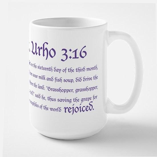 St. Urho 3:16 Large Mug