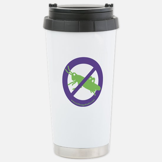 No Grasshoppers Stainless Steel Travel Mug