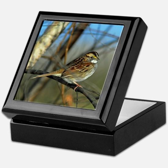 White-throated sparrow Keepsake Box