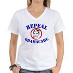 Dr. Obama Women's V-Neck T-Shirt