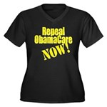 Repeal It Now Women's Plus Size V-Neck Dark T-Shir