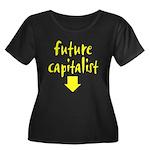 Future Capitalist - Yellow Women's Plus Size Scoop