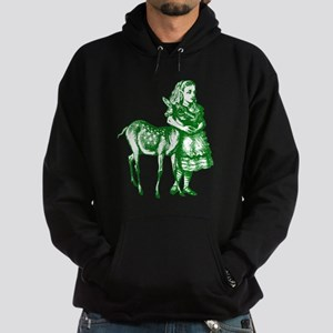 Alice with Fawn Green Hoodie (dark)
