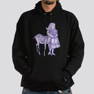 Alice with Fawn Lavender Hoodie (dark)