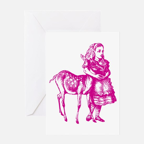 Alice with Fawn Pink Greeting Card