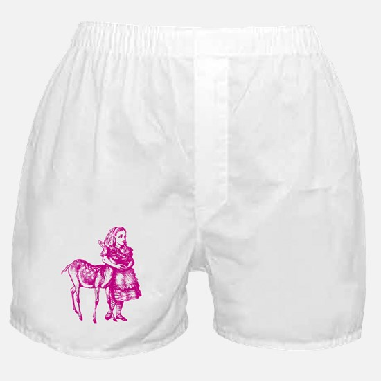 Alice with Fawn Pink Boxer Shorts