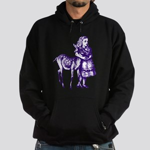 Alice with Fawn Purple Hoodie (dark)