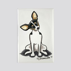 Rat Terrier Sit Pretty Rectangle Magnet