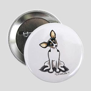 "Rat Terrier Sit Pretty 2.25"" Button"
