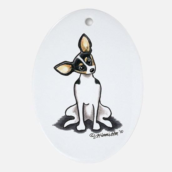 Rat Terrier Sit Pretty Ornament (Oval)