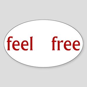 Feel Free Sticker (Oval)